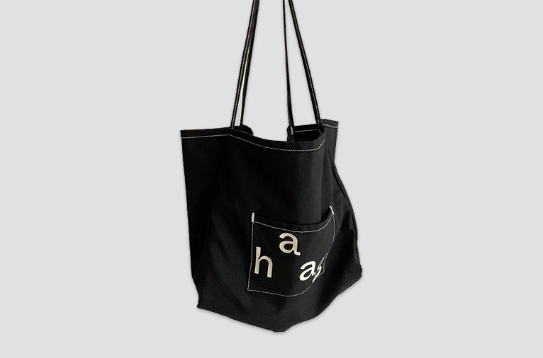 9차입고* [haag] a laundry bag_black